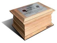 Wooden Funeral Urn  Solid Oak Personalised Urn For Ashes. Cremation Oak Casket