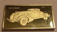 1935 Auburn  Franklin Mint Cars 2 troy oz  Sterling .925 Silver Ingot