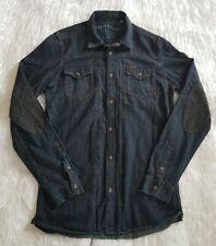 Firetrap Men's Blue Dark Wash Denim Jacket Size S Pockets Long Sleeve Casual
