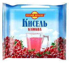 Kissel Кисель dry briquet Russian Dessert Jelly Drink Cranberry