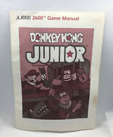 Donkey Kong Junior - Replacement Game Manual ONLY - Instructions - Atari 2600