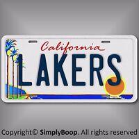 California LA Los Angeles LAKERS Basketball Team Aluminum License Plate Tag