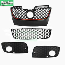 For 06-09 VW MK5 Jetta GTI Front Upper Bumper Hex Lower Center Side Fog Grille