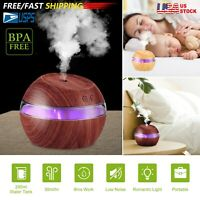 290ml Cool Mist Humidifier LED Ultrasonic Aroma Essential Oil Diffuser Home Room
