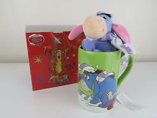 Disney Store Exclusive Green Eeyore in the Snow Mug with Plush Scarf BOXED TAGS