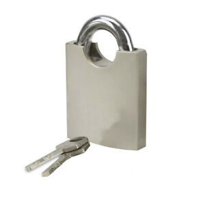 !NEW! Heavy Duty 50mm SIMPLE Lock Protected Stainless-Steel Padlock 2 Keys !NEW!