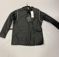 "Marni Black Hooded Waterproof Back Belt Jacket Mens Size UK 40"" *REF135"