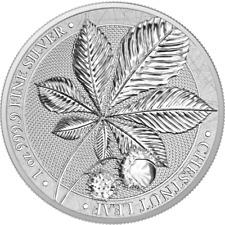 Germania Kastanienlaub Chestnut Leaf 2021 Silber 1 OZ Unze Ounce Silver 5 Mark