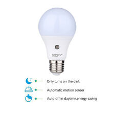 E27 Auto Light Sensor Bulb Energy Saver Dusk to Dawn LED Lamp Natural White