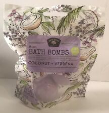 BOLERO Beverly Hills Mini BATH BOMB 3 Pack Coconut Verbena Moisturizing 3.99 oz