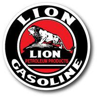 LION GASOLINE GAS OIL SUPER HIGH GLOSS OUTDOOR 4 INCH DECAL STICKER PETROL