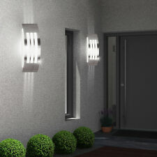 Lot De 2 Lampe extérieure Éclairage mural argent Base E27 patio 1-éclaireur