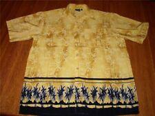 SIDEOUT  Aloha Hawaiian Shirt LG Yellow VOLLEYBALL  4L3