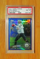 2011 Topps Chrome Blue Refractor #130 Drew Brees PSA 8 NM-MT