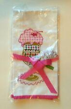 Nwt Vera Bradley Tea Towel in Olivia Pink Kitchen Ice Cream Sundae Free Shipping