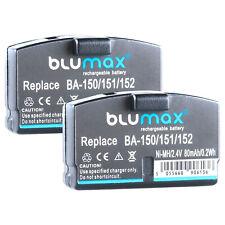 2x BLUMAX Akku für Sennheiser / AKG Kopfhörer Headset BA150 BA151 BA152   65161