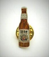 2 Vintage 1980s Lite Pilsner Beer Bottle Advertising Pin New NOS Miller?