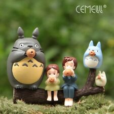6Pcs My Neighbor Totoro Mei Sit On Tree Blowing Figures Scene Set Studio Ghibli