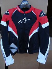 NEW Women's Stella T-GP Plus R Air Jacket Alpinestars Black/White/Red Small S