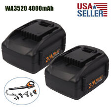 2x 4.0Ah WA3525 20V Max Lithium Battery For WORX WA3520 W155 WG163 WG151s WG255s