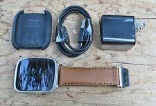 ASUS  Original ZenWatch Smartwatch First Gen Stainless Steel Brown Leather Band