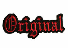 Original Biker Red and Black Logo Embroidered Patch