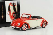 Volkswagen VW 1200 Hebmüller 1949 Cabriolet mit Dach rot creme 1:18 KK diecast