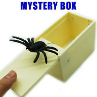 Mystery Spider Plastic Box Jump Out Rubber Prank Gags Trick Practical Jokes US