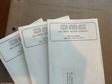 Revised Copies of Delorean Sec Docs,3 Dmc Envelopes, and Aa Reports