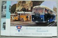 AEC RELIANCE & MONOCOACH PASSENGER VEHICLES Bus Sales Brochure 1955 #481 2.55