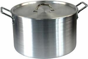 """14"""" Large Aluminium Cooking Saucepan Stock Stew Soup Casserole Catering Pan Pot"""