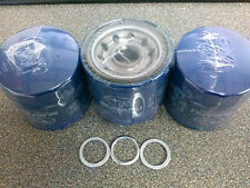 3 EACH OEM SUBARU OIL FILTERS AND CRUSH WASHERS # 15208AA12A AND 11126AA000