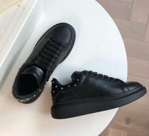 Hot Sell Men's Sneaker Rubber Sole Design Casual Lace-up Rivet Shoes 38-45