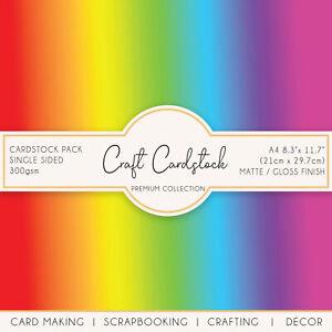 Spectrum Rainbow Scrapbooking Card Making A4 Cameo Cricut Craft 300gsm Cardstock
