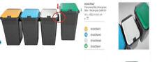 4 Pattumiera per esterni rifiuti con coperchio secchio bidone tontarell 45 Lt