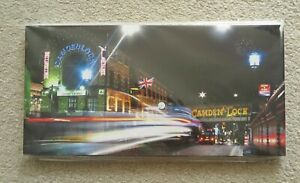 London Camden Lock at Night Photography Print on Whiteboard by Jarekk