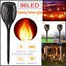 1-10Pcs 96 LED Dancing Flames Solar Tiki Torch Light Landscape Flickering Lamp