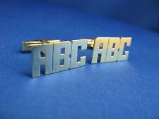 Sterling Silver Personalized  Cufflinks - ANY 3  INITIALS