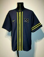 Mens Michigan Wolverines Warm up Size XL Nike Basketball NCAA NBA Blue X Large
