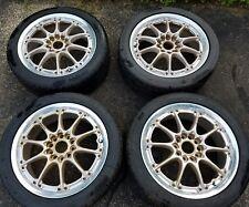 "17"" JDM RAYS VOLK RACING GT-N GOLD FORGED 2 PIECE WHEELS RIMS 5X114.3 5X100"