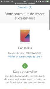 Tablette Apple Ipad mini 4 128 go Wifi Model A1538
