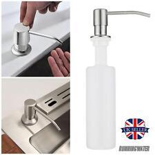 Sink Soap Lotion Holder Liquid Pump Dispenser Stainless Steel Bathroom Kitchen