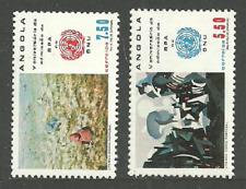 ANGOLA 1982 ART PAINTINGS COTTON UNITED NATIONS ADMISSION SET MNH