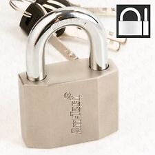 50mm HARDENED STEEL SHACKLE PADLOCK Heavy Duty Anti-Theft Gate Door Outdoor Lock