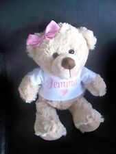 Personalised Teddy Bear Gift Any Name 26cm Baby Twins Valentine Birthday Love