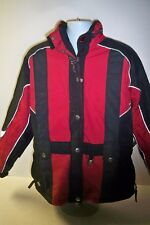 Ski Doo snowmobile woman's large coat signed on back by race driver #128 c-12