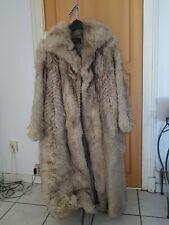 manteau en renard bleu galone