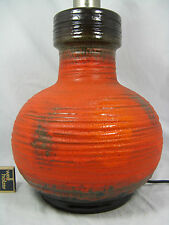 """Beautiful 70´s """" Fat Lava """" Carstens Keramik pottery lamp base Lampenfuss"""