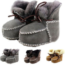 Winter Baby Sheepskin Genuine Boots Infants Warm Fur Wool Booties  Leather Boots