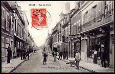 CPA Cosne . rue de Paris . Nièvre 58 . beau plan 1908